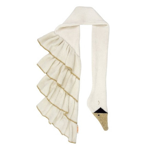 This sweet swan scarf is a beautiful accessory. Crafted from soft organic cotton with stitched features and stylish ruffle wings.   Organic cotton Stitched features Ruffle wings Silver thread detail Suitable for ages 3+  Product dimensions: 50 x 8 inches