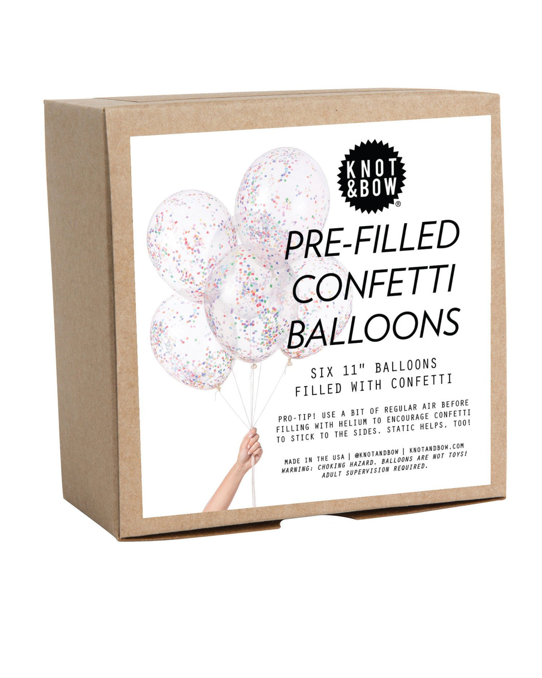 Tiny Rainbow Pre-Filled Confetti Balloons