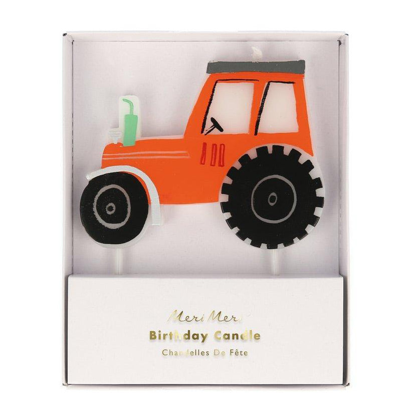 On The Farm Tractor Candle