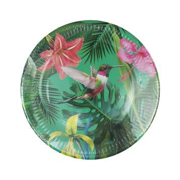 Celebrate your tropical theme with these colourful paper plates! Get yourself 12 paper plates of 2 unique designs - it will definitely add a really special feel to any gathering! Diameter: 9