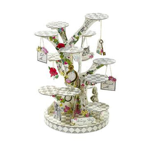 Delightful, intricate and show stopping! Our enchanting Truly Alice tree shaped cake stand is your very own whimsical outdoor setting that will put the finishing touches to your party table.  Perfect for weddings, afternoon tea parties and other special occasions, this impressive cake stand holds plenty of yummy cupcakes, pastries, canapés, or any party food that needs showing off! A perfect centrepiece for any celebration, decorate the table with our Truly Alice range napkins, tea pot vase and paper plates