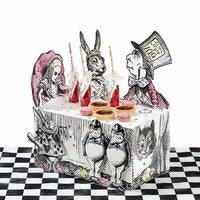 From the bestselling Truly Alice range, Talking Tables brings you this delightful buffet stand centre piece. Featuring all of Alice's friends in Wonderland such as the mad hatter and white rabbit, this display is perfect to display brilliantly bonkers sweet or savoury buffet treats. To create a brilliantly whimsical Truly Alice display, combine with our Curious Cake Domes. Each pack contains one buffet display centrepiece measuring 17.5 in height and 14.5 in width, with two character attachments and self-ad