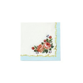 Decadent and handy, floral napkins with gold foil detail. Perfect for every occasion!  Each pack contains 16 paper napkins  5