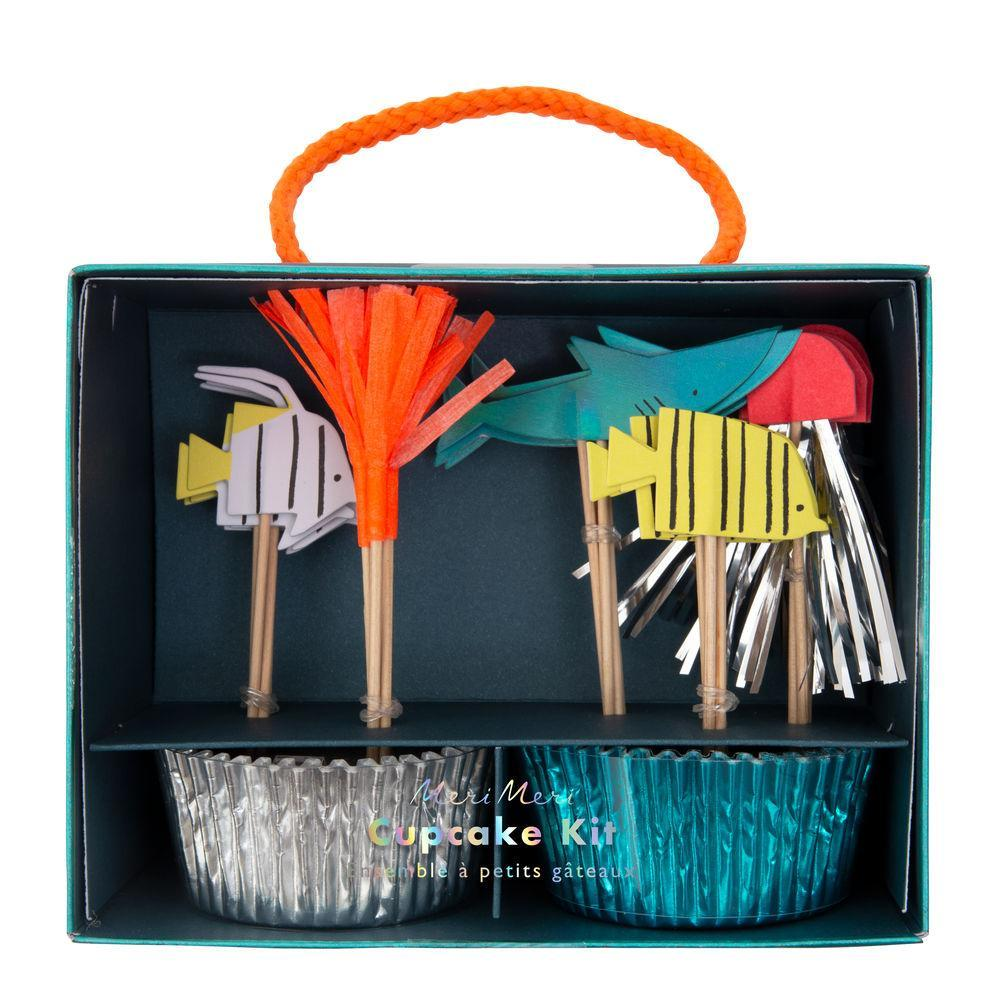 Transform cupcakes with this fabulous kit. Featuring colorful toppers crafted from paper with lots of shiny detail, and coordinating cases.   Themed toppers with coordinating cupcake cases Neon print with silver & blue holographic foil detail Pack of 24