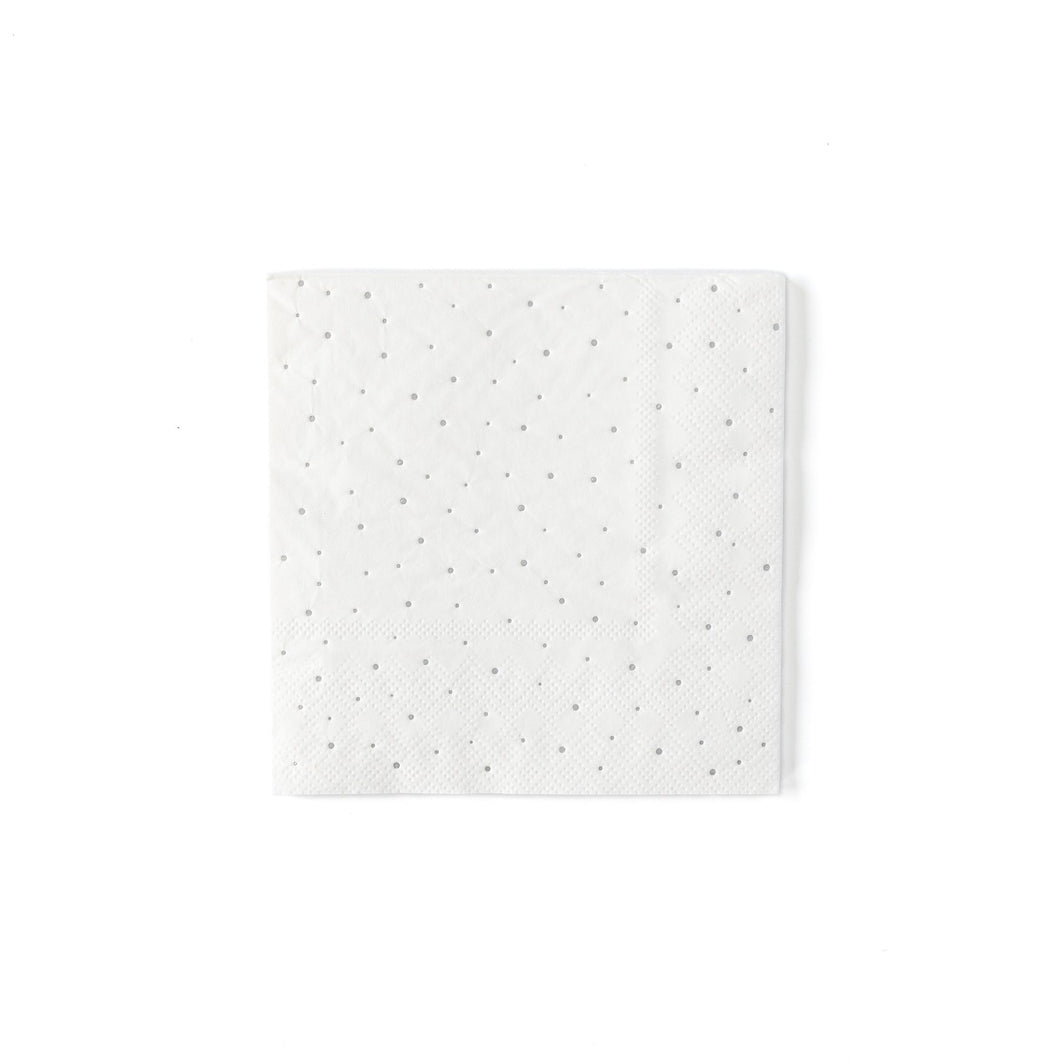 If you are planning an elegant or modern holiday party, be sure to put these silver foiled cocktail napkins in your cart. These sparkly dot napkins will add the perfect touch of cheer to your gathering. Make sure to pair these napkins out with our silver plaid plates to complete the modern winter white look!  • 5