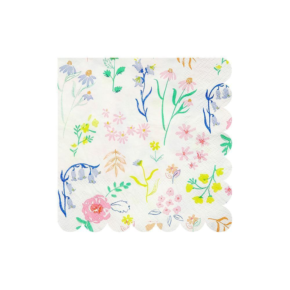 If you're throwing a birthday party for a little fairy or a celebration for a grown up princess, you can't go wrong with our adorable Wildflower party collection. This range of high quality tableware features a delicate pattern of beautiful wildflower drawings in sweet pastel colours, perfect for any summer occasion. Plan your whole decor around this elegant palette, or mix and match with other colours, patterns and themes.   Small Pack of 20 Neon print detail Size approx: 5