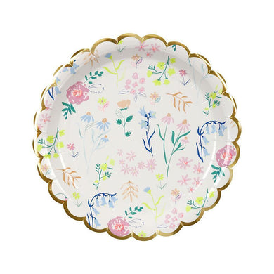 If you're throwing a birthday party for a little fairy or a celebration for a grown up princess, you can't go wrong with our adorable Wildflower party collection. This range of high quality tableware features a delicate pattern of beautiful wildflower drawings in sweet pastel colours, perfect for any summer occasion.    Small Pack of 8 Neon print & gold foil detail Size approx: 7