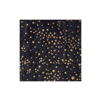 We're bringing fashion to the party! Zodiac is a design collaboration with famed American fashion designer - Cynthia Rowley. With whimsical stars stamped onto a chic black cocktail napkin, adding style to your everyday celebrations has never been easier!  Colors: black, gold foil Cocktail napkins Made of paper Approx. 5