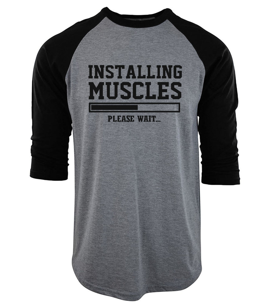 Installing Muscles Baseball Tee