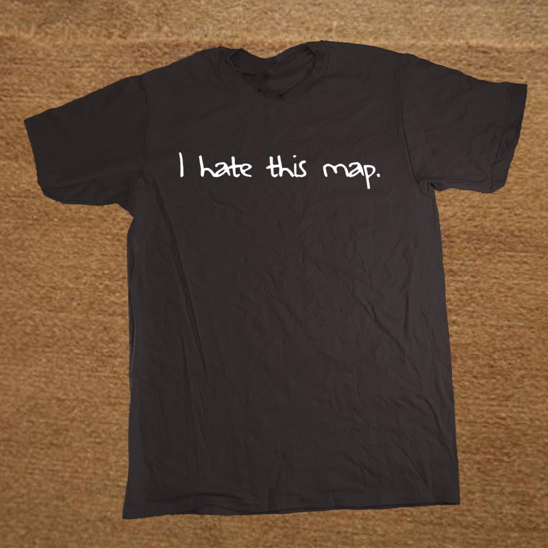 I Hate this Map Gaphic T-shirt