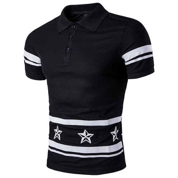 Casual Star Collared T-Shirt