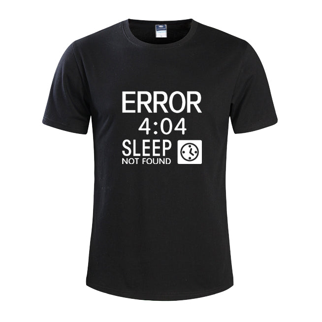 Error 404 Sleep Not Found Graphic Tee