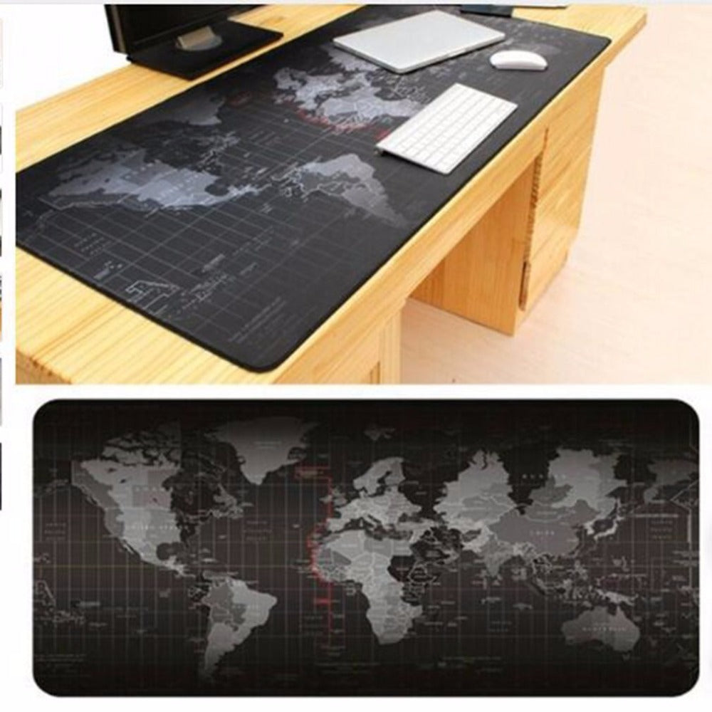 World Map Keyboard and Mouse Pad