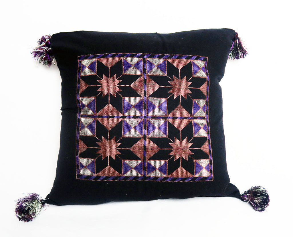 Afghan Embroidered Pillow