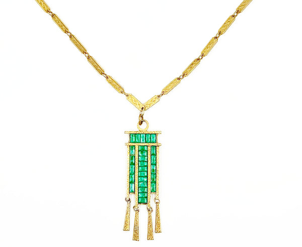 "Vintage ""Cleopatra"" Gold Necklace"