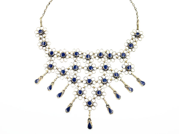 Lapis Floral Necklace