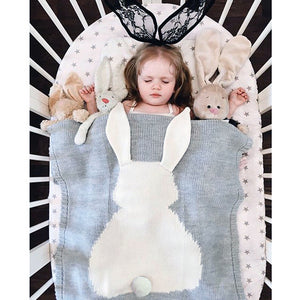 Knitted Bunny Blanket - Amelia's Boutique