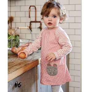 Dress with Animal Pockets and Leggings Set - Amelia's Boutique