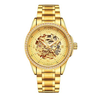Mechanical Watch Waterproof Diamond  Men's Bussiness - GoldBunny GemMine