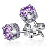 Sterling Royalty Amethyst Stud
