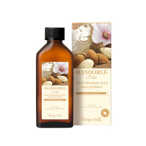 Mediterranean Almond - Nourishing and Softening Silky Hair and Body Oil (100 ml) - Fragrance Free