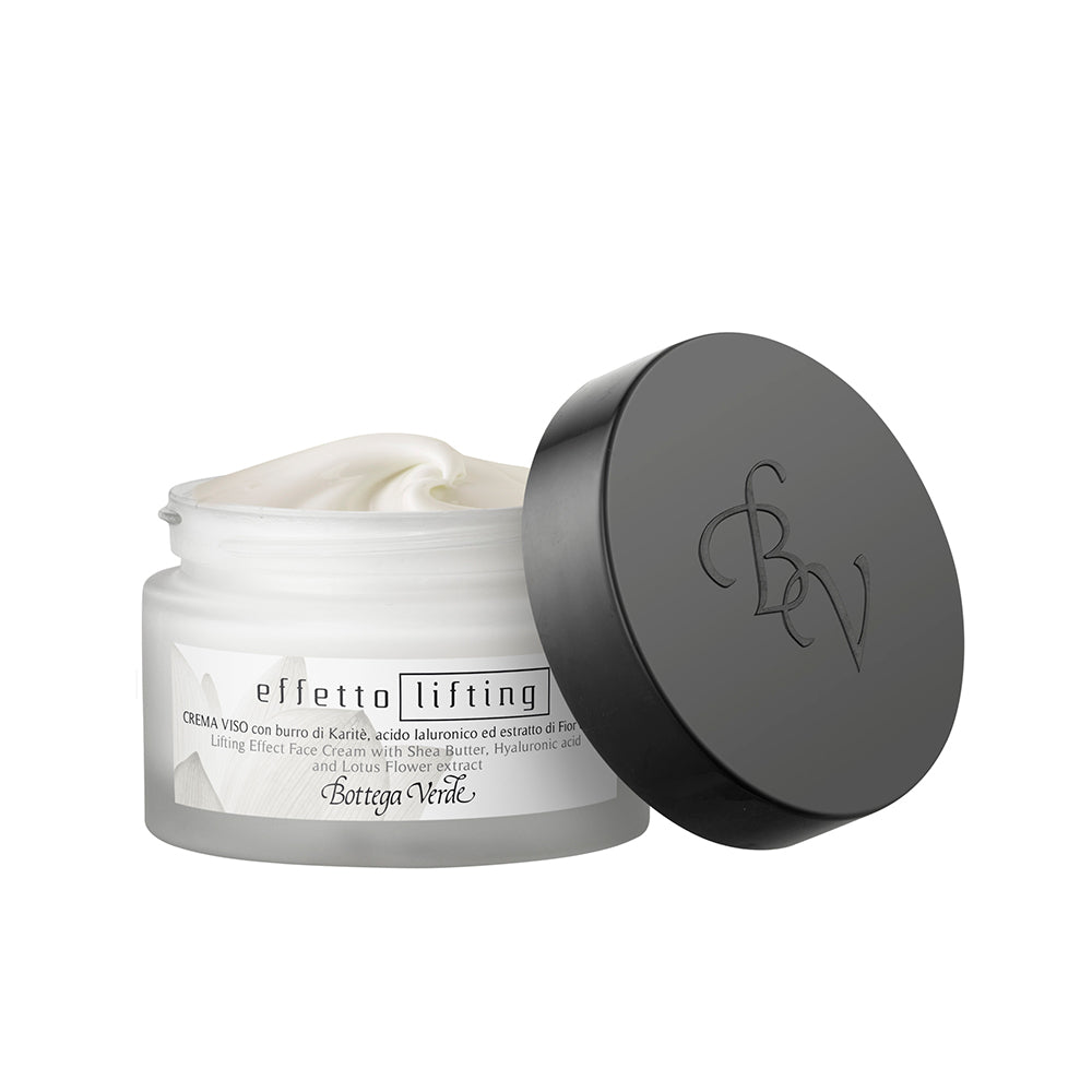 Lifting Effect Face Cream with Shea Butter, Hyaluronic Acid and Lotus Flower Extract (50 ml)