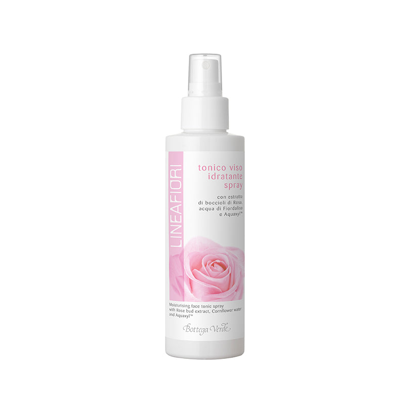Lineafiori - Moisturising Face Tonic Spray With Rose Bud Extract, Cornflower Water And Aquaxyl (150 ml)