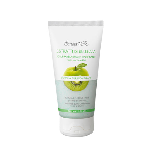 Beauty Extract - Apple & Kiwi Purifying 2-in-1 Scrub/Mask for Combination/Oily Skin (75 ml)