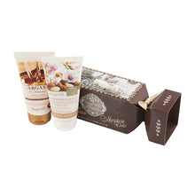 Gift Set - Argan&Iris&Almond Small Paper Case With Ribbons