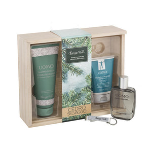 Men's Gift Set - Cedar Wood Wooden Box