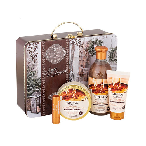 Gift Set - Argan Hands Body Lips And Bath&Shower Metal Box