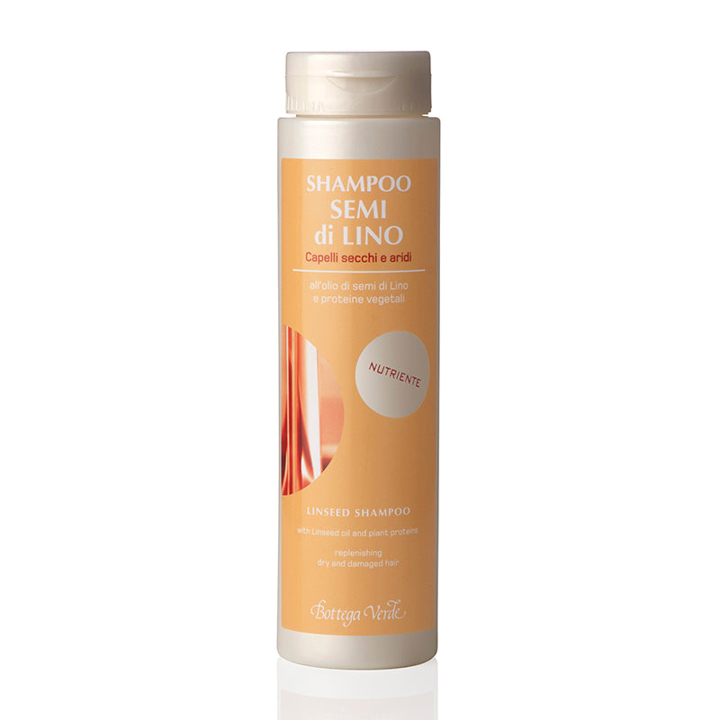 Linseed Shampoo with Linseed Oil & Plant Proteins - Dry & Damaged Hair (200 ml)