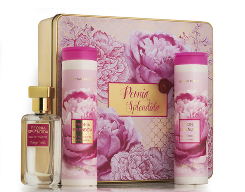 Gift Set - Peony Big Metal Box
