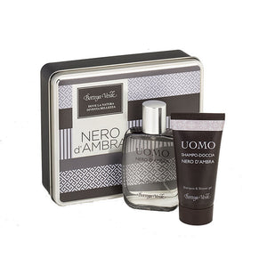 Men's Gift Set - Black Amber Small Metal Case