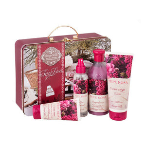 Gift Set - Pink Pepper Hands Body Deo Bath&Shower Metal Box