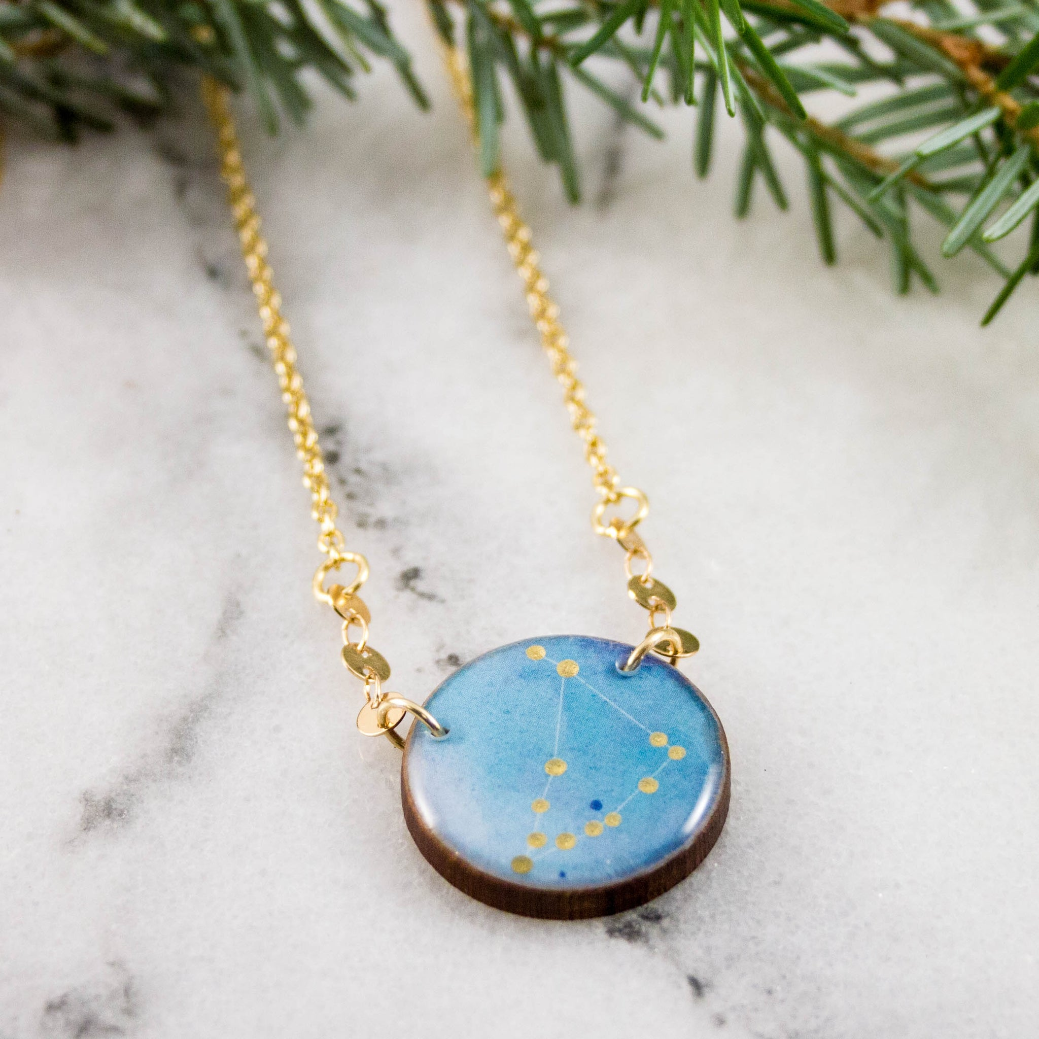 Capricorn Handpainted Constellation Necklace