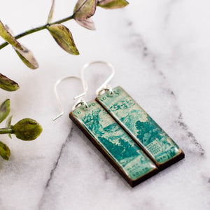 South Dakota Vintage Postage Stamp Earrings