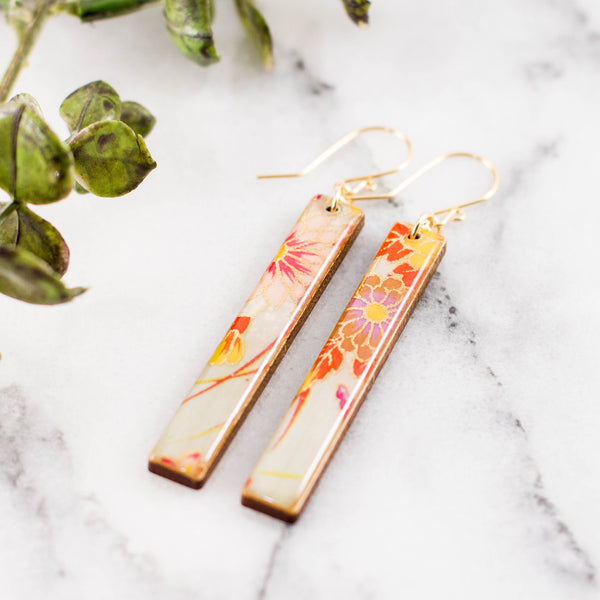 Spring Floral Bar Earrings