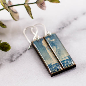 US- Yellowstone National Park Vintage Postage Stamp Earrings