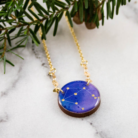 Libra Handpainted Constellation Necklace