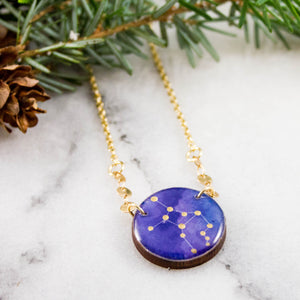 Virgo Handpainted Constellation Necklace