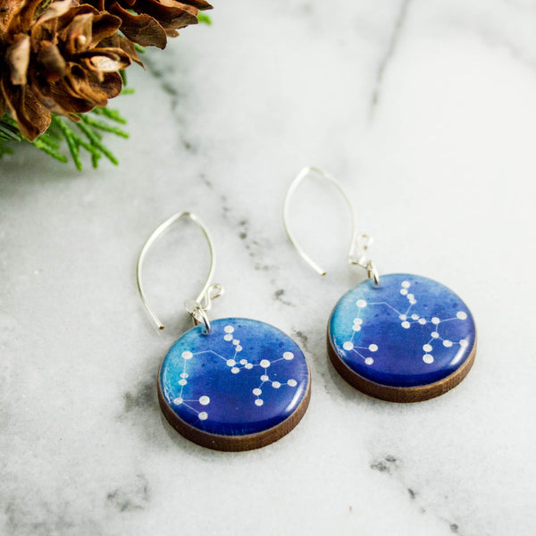 Sagittarius Handpainted Constellation Earrings
