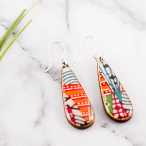 Teardrop Japanese Bright Geometric Earrings