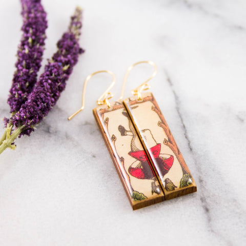 Italian Tarot Card Earrings- The Hanged Man