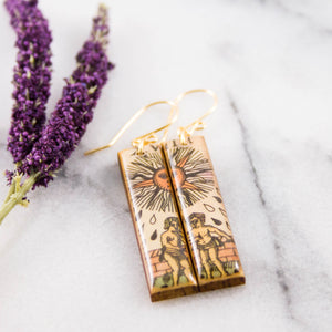 Italian Tarot Card Earrings- The Sun