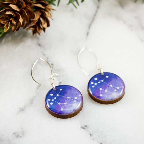 Gemini Handpainted Constellation Earrings