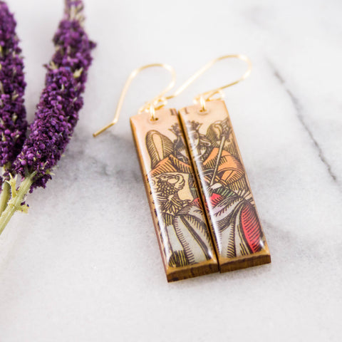 Italian Tarot Card Earrings- The Empress