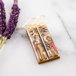 Italian Tarot Card Earrings- The Lovers