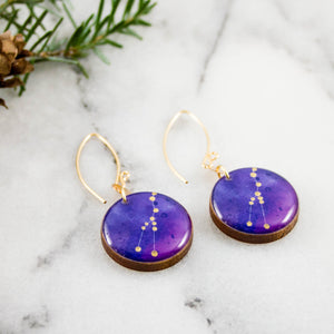 Taurus Handpainted Constellation Earrings