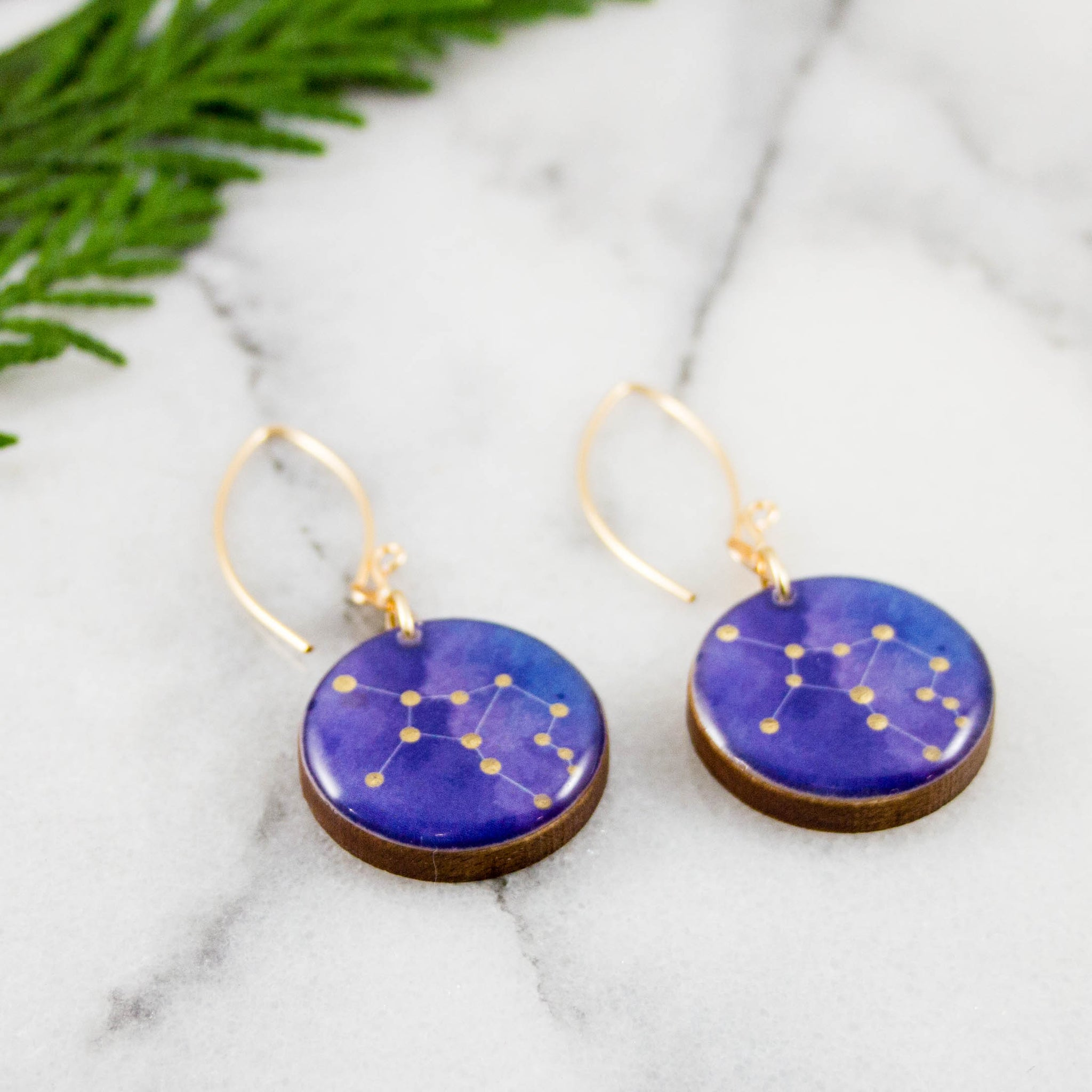 Virgo Handpainted Constellation Earrings